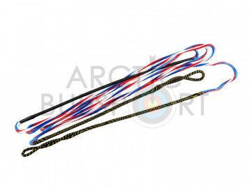 Flex Archery Bowstring 8125G Supra Red-White-Blue